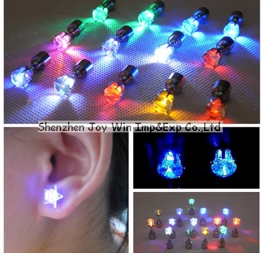 Promotional Led Earrings,Flash Led Earring,Led Stud Earring for Lady-Crown Shape