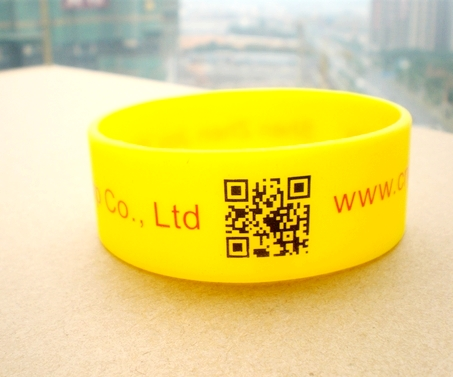 Promotional QR Silicone Wristband for Business