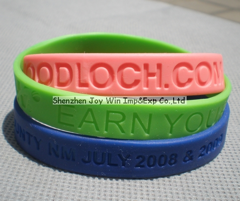 Silicone Wrist Band,Debossed Wristband for Promotion