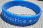 Silicone Wristband,Debossed Color Filled Wristband