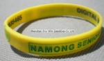 Silicone Wrist Band,Debossed Filled Logo