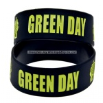 Debossed Filled Silicone Wristband Green Day Punk Music Silicone Bracelet