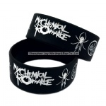 Debossed Filled Ink Silicone Bracelets My Chemical Romance Star Bracelet