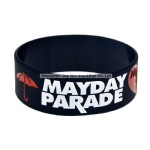 Imprint Debossed Filled Ink Silicone Bracelets Mayday Parade Fan Wristband