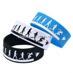 Debossed Filled Ink Silicone Bracelets Parkour Silicone Wristband
