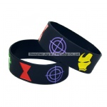 Debossed Filled Ink Silicone Bracelets Captain American Silicone Wristband