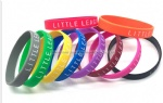 Promotional Debossed Filled Color Silicone Bracelets