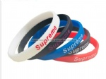 Promotional Customized Debossed Filled Logo Advertising Slim Wristband