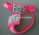 Silicone QR Wristband for Advertising Promotions