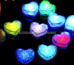 Promotional Flashing Glowing Heart LED Ice Cube for Party