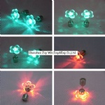 Flower Shape LED Flashing Earring Glowing Eearring for Party