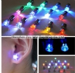 Promotional LED Earrings, Flash LED Stud Earring for Lady